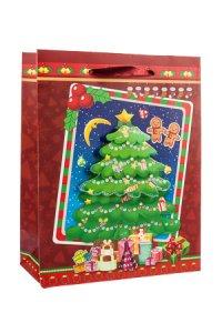 3D Geschenktasche Weihnachtsbaum