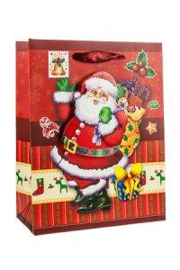 3D Geschenktasche Weihnachtsmann