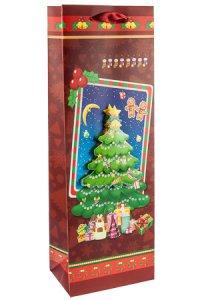 3D Flaschentasche Weihnachtsbaum