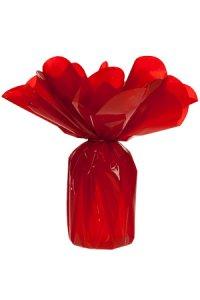 Verpackungsbogen rot rund 72 cm - 50er Pack