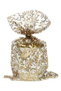 Schmuckbeutel Brokat gold 15 x 25 cm - 10er Pack