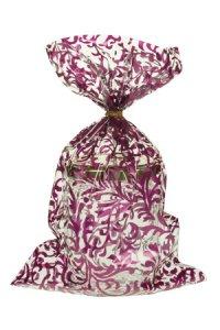 Schmuckbeutel Brokat violett 15 x 25 cm - 10er Pack