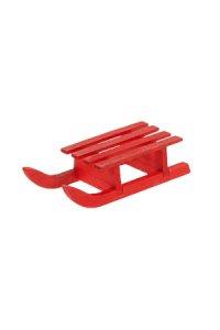 Deko-Schlitten aus Holz, rot   klein