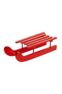 Deko-Schlitten aus Holz, rot  mittel