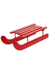 Deko-Schlitten aus Holz, rot groß