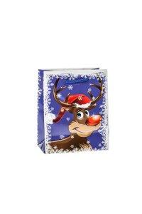 Geschenktasche Rudolph blau   klein