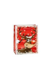 Geschenktasche Rudolph rot   klein