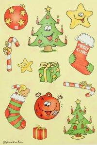 Schmuck-Etiketten Lustige Weihnachtsmotive