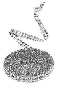 Glitzerband 3 m, 10 mm silber