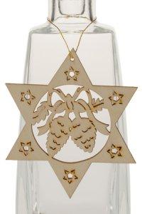 Weihnachtsanhänger Stern mit Tannenzapfen