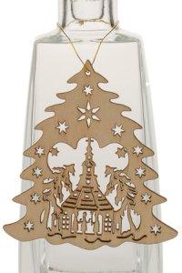 Weihnachtsanhänger Tannenbaum mit Kirche