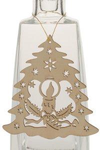 Weihnachtsanhänger Tannenbaum mit Kerze