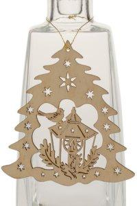 Weihnachtsanhänger Tannenbaum mit Laterne