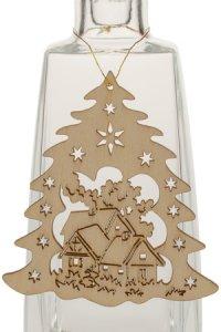 Weihnachtsanhänger Tannenbaum mit Häusern