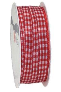 Geschenkband 4 m rot/weiß