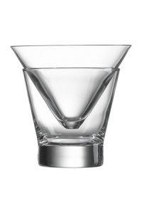 Becher- und Cocktailglas Freeze, 2-teilig