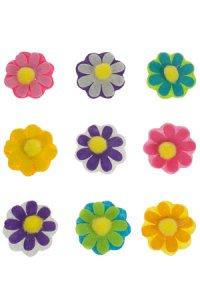 Filz-Sticker Bunte Blumen - 9er Set