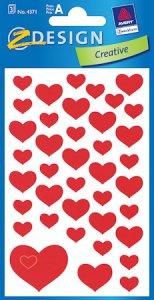 Aufkleber Rote Herzen