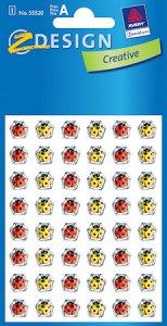Epoxy-Sticker 48 Marienkäfer