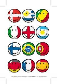 Sticker Internationale Flaggen-Smileys