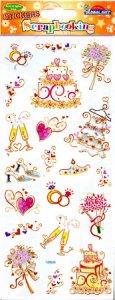 Transparent-Sticker Alles Liebe zur Hochzeit