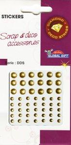 Diamant-Sticker Glaskugeln gold