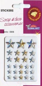 Diamant-Sticker Sterne im Licht von Sonne und Mond