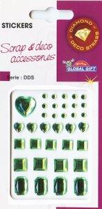 Diamant-Sticker Geschliffene Diamanten maigrün