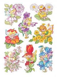 Aufkleber Blumen-Feen