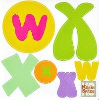 Aufkleber Gib mir ein W und ein X