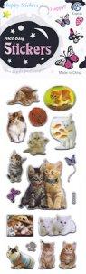 Epoxy-Sticker Süße Kätzchen