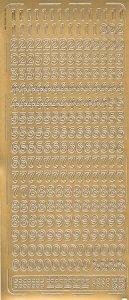 Sticker Zahlen gold
