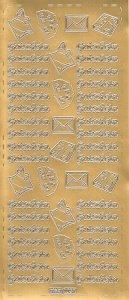 Sticker Gutschein gold
