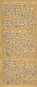 Sticker Tauben mit Ringen gold