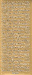 Sticker Zur Konfirmation gold