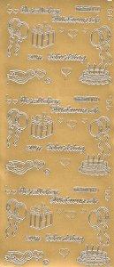 Sticker Herzlichen Glückwunsch zum Geburtstag gold
