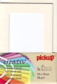 Passepartout-Karten mit runden Ecken elfenbein - 3er Set