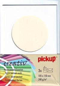 Passepartout-Karten rund weiß - 3er Set