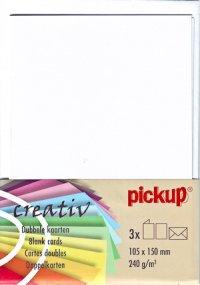 Doppelkarten weiß - 3er Set