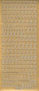 Sticker Antikes Alphabet in Großbuchstaben gold