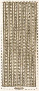 Sticker zum Besticken Feine Bordüren gold beglimmert