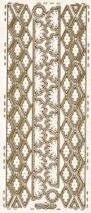 Sticker zum Besticken Bordüren gold beglimmert