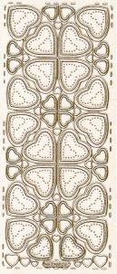 Sticker zum Besticken Herzen gold beglimmert