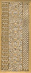 Sticker Bordüren und Ornamente gold