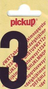 Sticker Ziffer 3, 60 mm schwarz