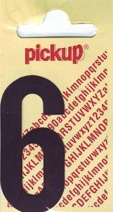 Sticker Ziffer 6, 60 mm schwarz