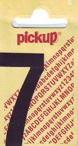 Sticker Ziffer 7, 60 mm schwarz