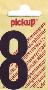 Sticker Ziffer 8, 60 mm schwarz