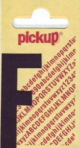 Sticker Buchstabe F, 60 mm schwarz