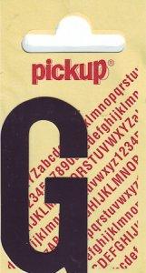 Sticker Buchstabe G, 60 mm schwarz